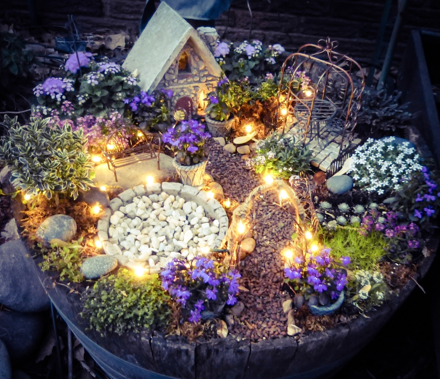Superbe Make A Little Magic Using Solar Wire LED Twinkle Lights In Your Fairy Garden.  Instructions