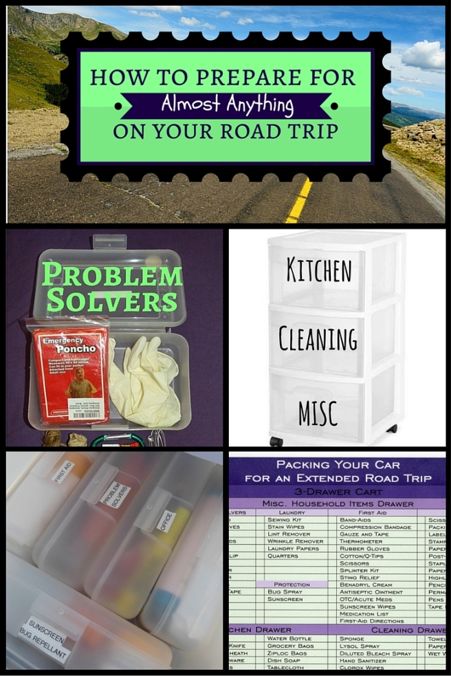 Prepare for Road Trip Kitchen Cleaning Household first aid problem solvers laundry office (1)