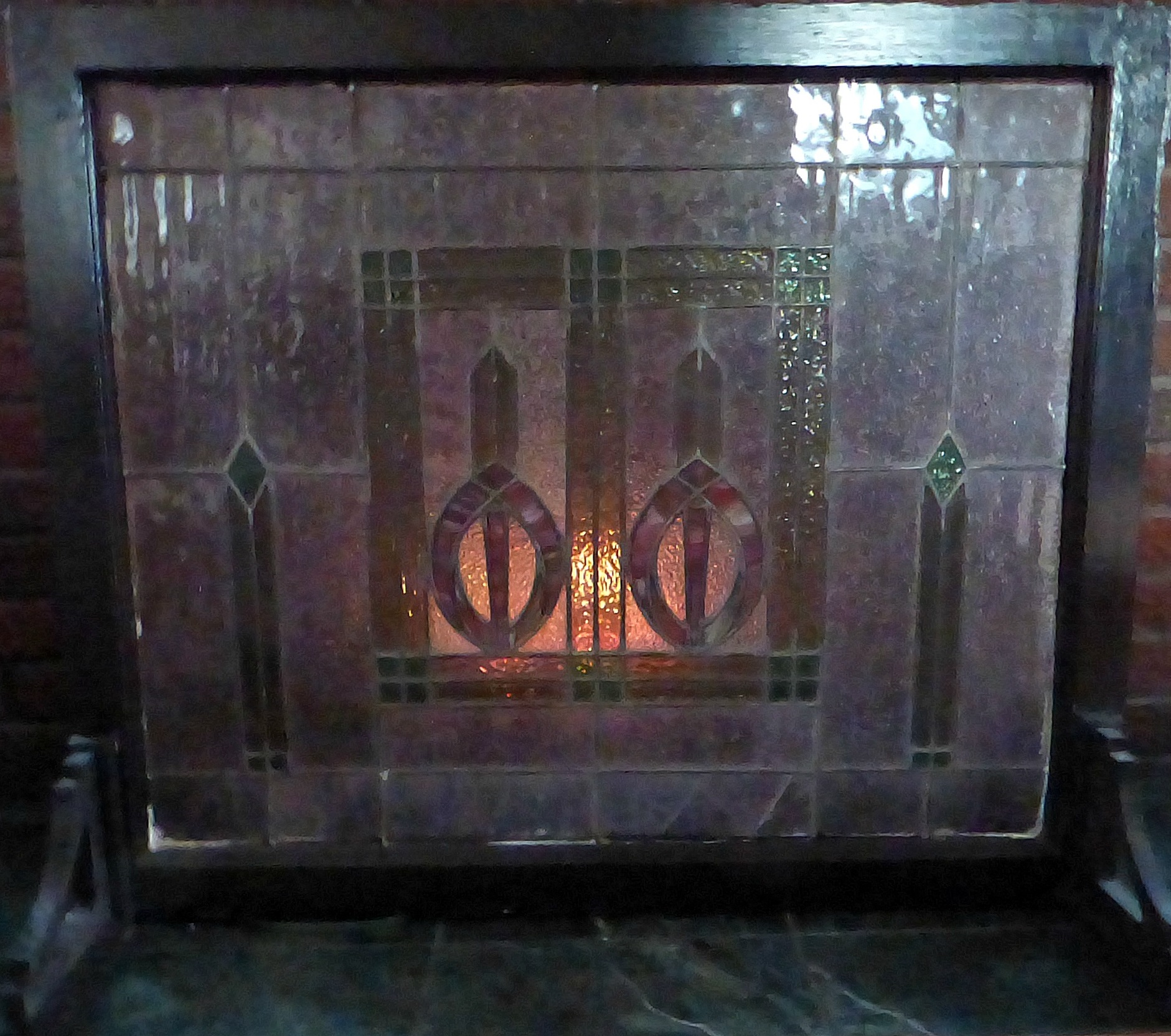stained glass fireplace screen stained glass fireplace screens