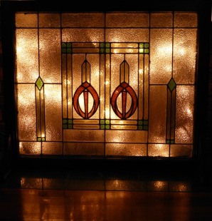 Make a Fireplace Screen from a Stained Glass Window Little Tudor